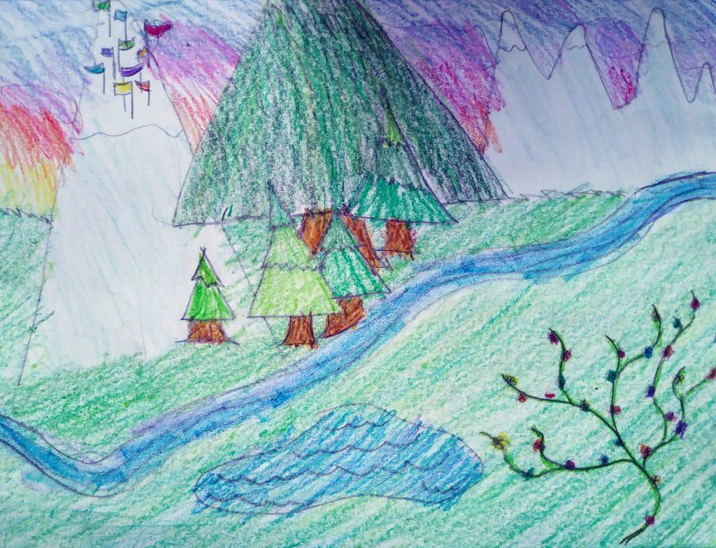 """Amelia D """"The Big River"""" age 9"""