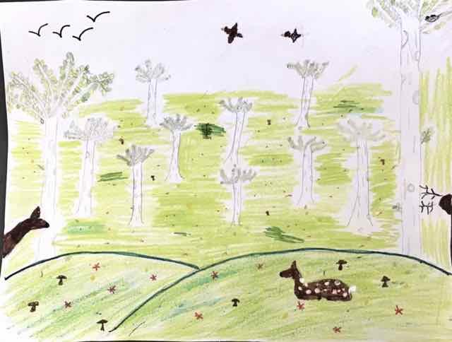 "Bernice O ""A Lovely Spring Meadow"" age 10"