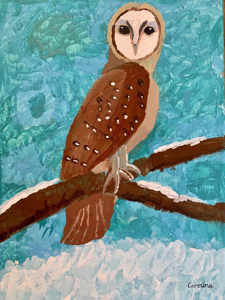"""Carolina R-T """"Owl on a Perch"""" age 10"""