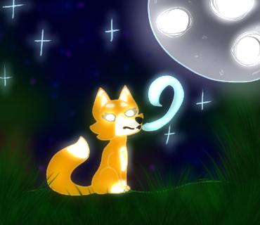 """Dharma A-E """"Moon Fox Magic"""" age 10"""