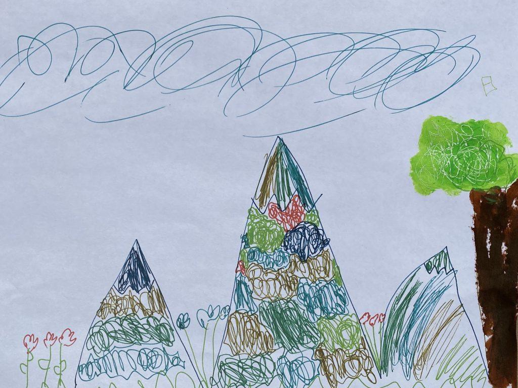 """Greta S age 6 """"Marvelous Mountains"""""""