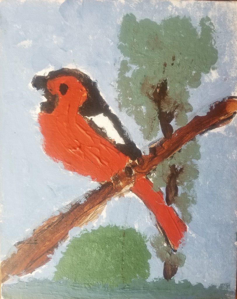 "Hawk D age 7 ""Bird in the Treetop"""