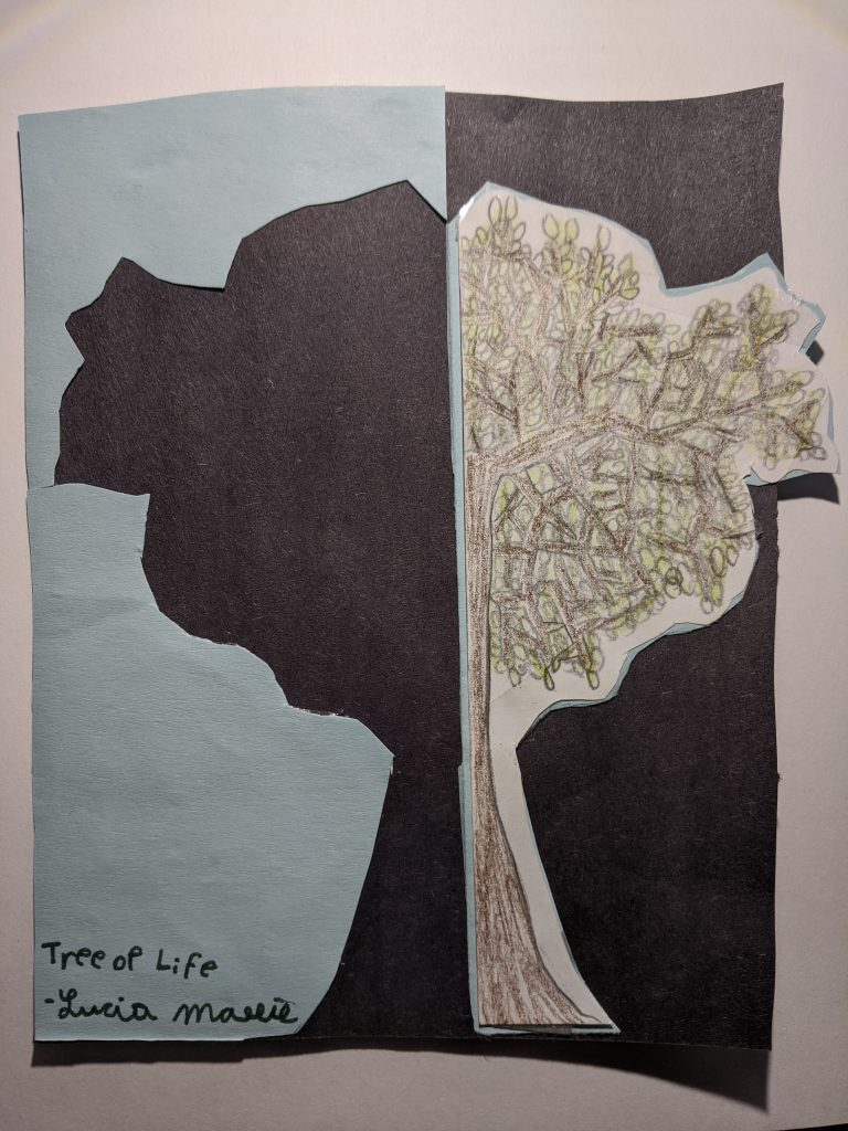 """Lucia H """"Tree of Life"""" age 9"""