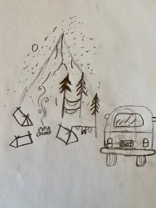 """Mateo Magee """"Camping with my Family"""" age 12"""