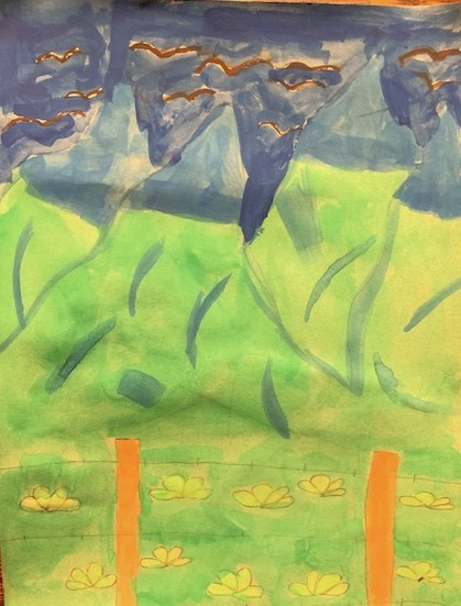 "Olive G ""Flight of Taos"" age 11"