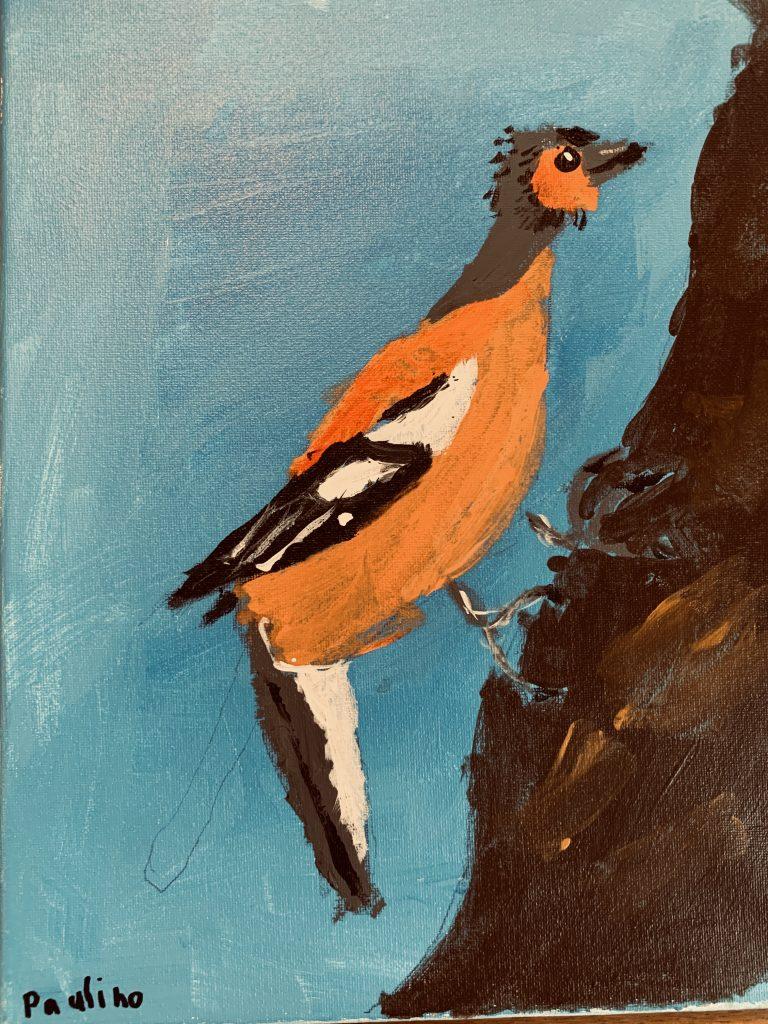"Paulino M R-T age 7 ""The Bearded Finch"""